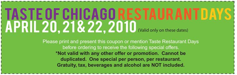 Tastes of chicago coupon code