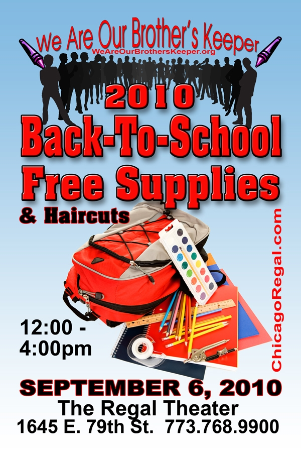 School Supplies & Haircuts - Regal Theater