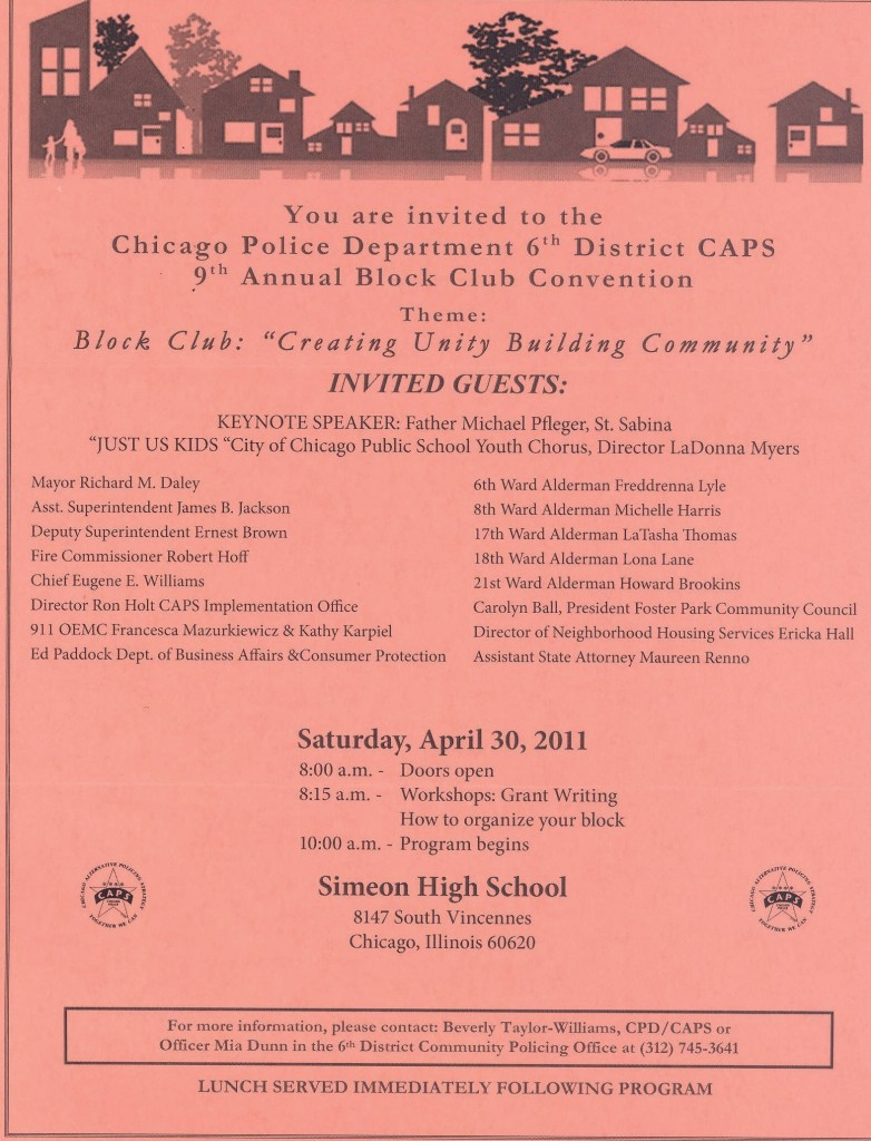 Block Club Convention- April 30 2011