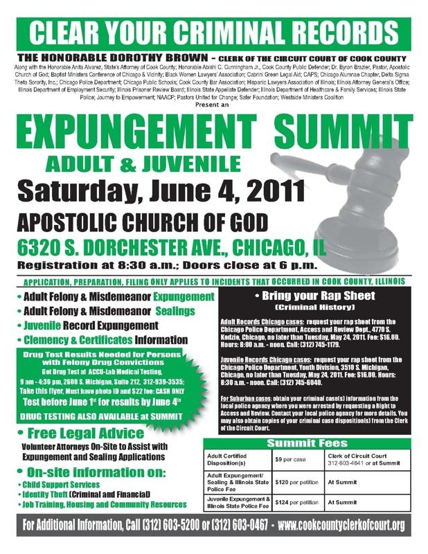 Expungement Summit - June 4 2011