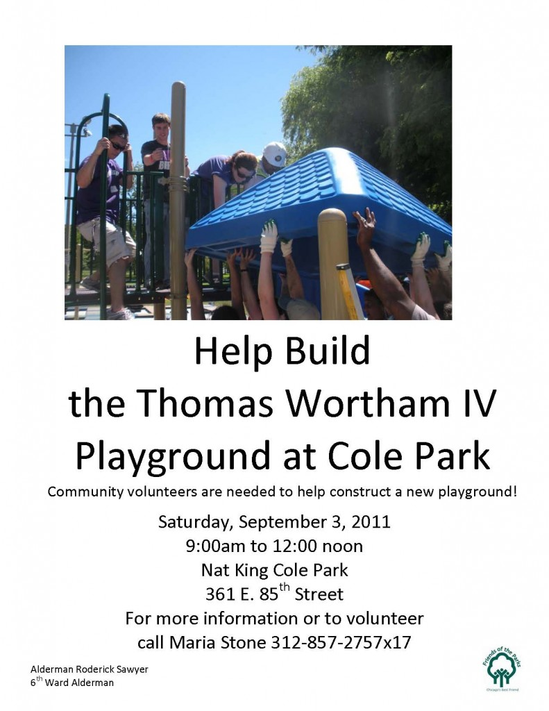 Wortham Playground Build Flyer