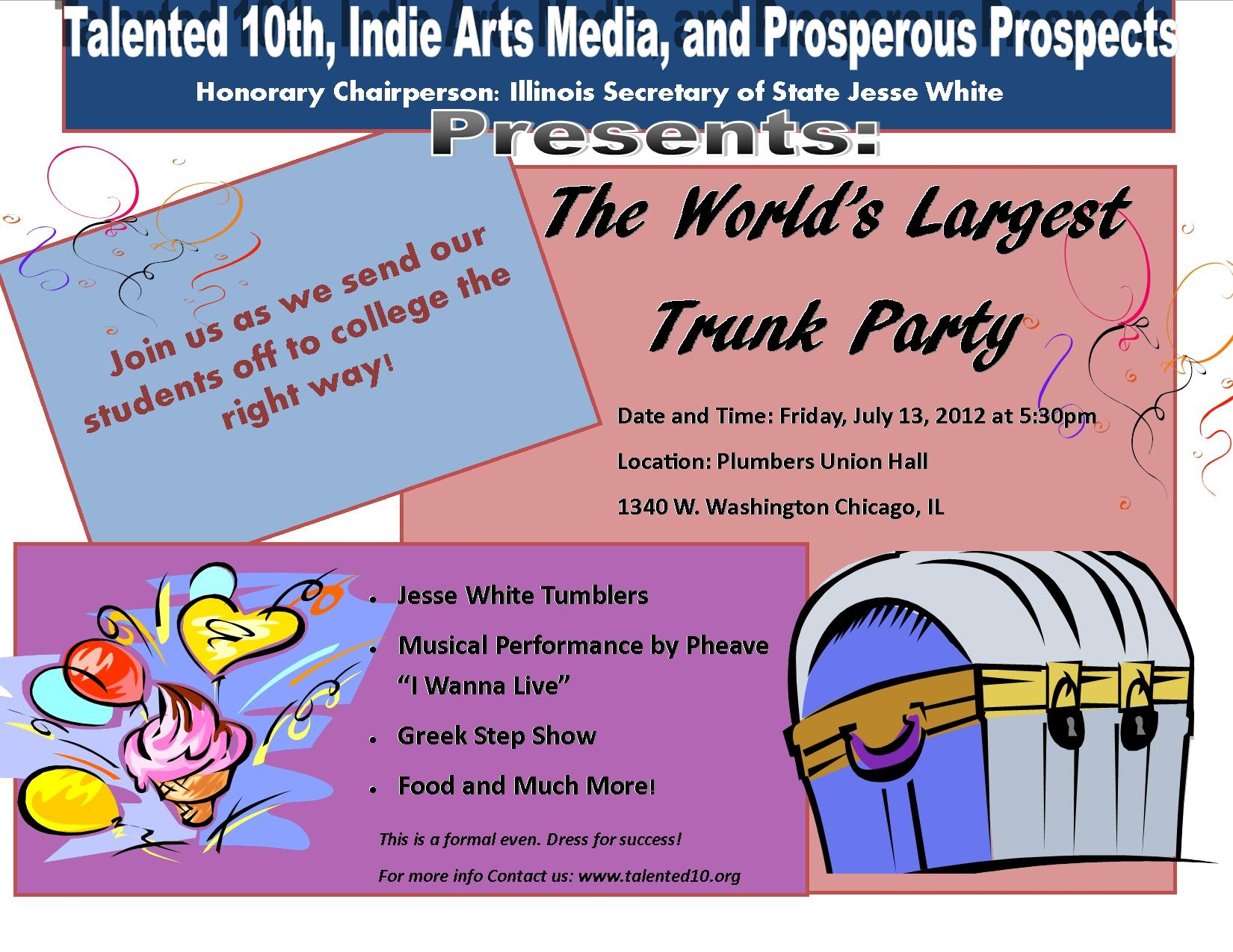 Talented 10ths Worlds Largest Trunk Party Shorty Your Chicago
