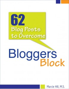 62 Posts to Overcome Bloggers Block - Marcie Hill