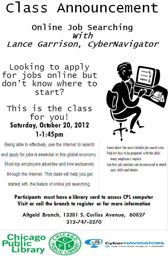 Job Search Class - October 20