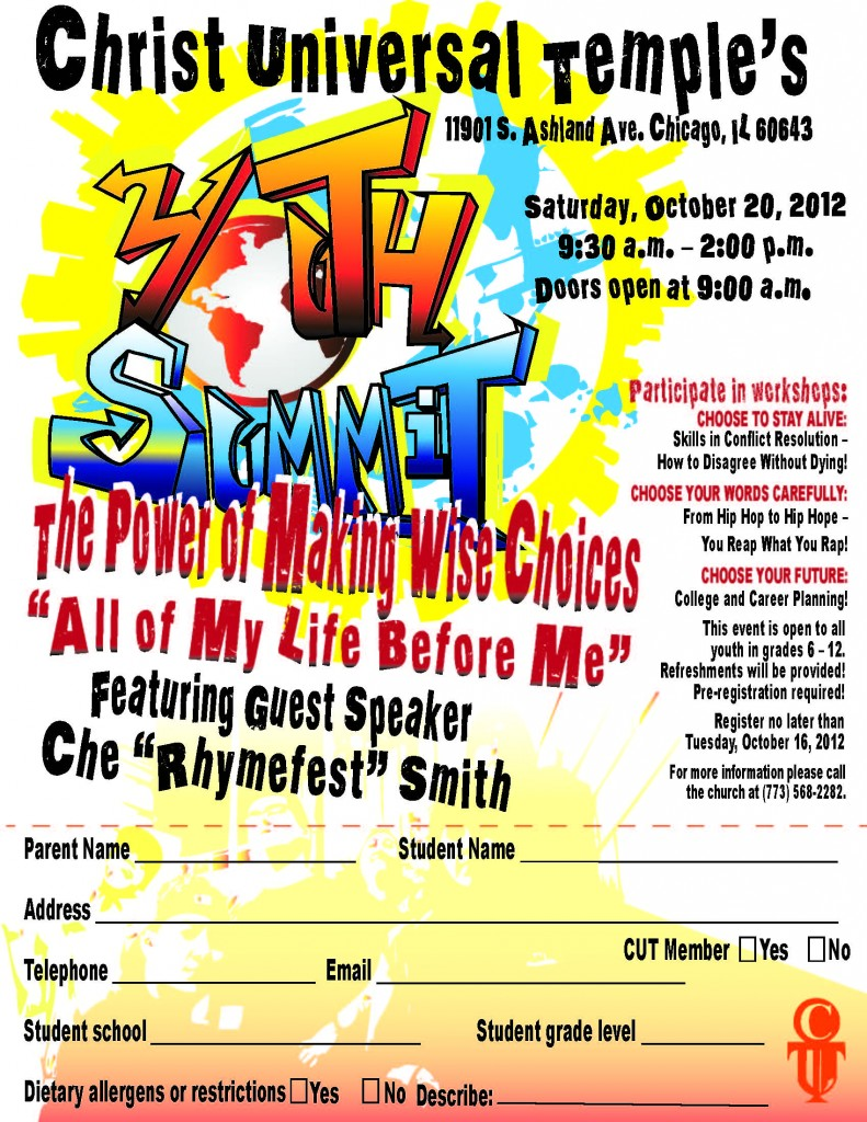 Youth Summit Flyer - October 20, 2012