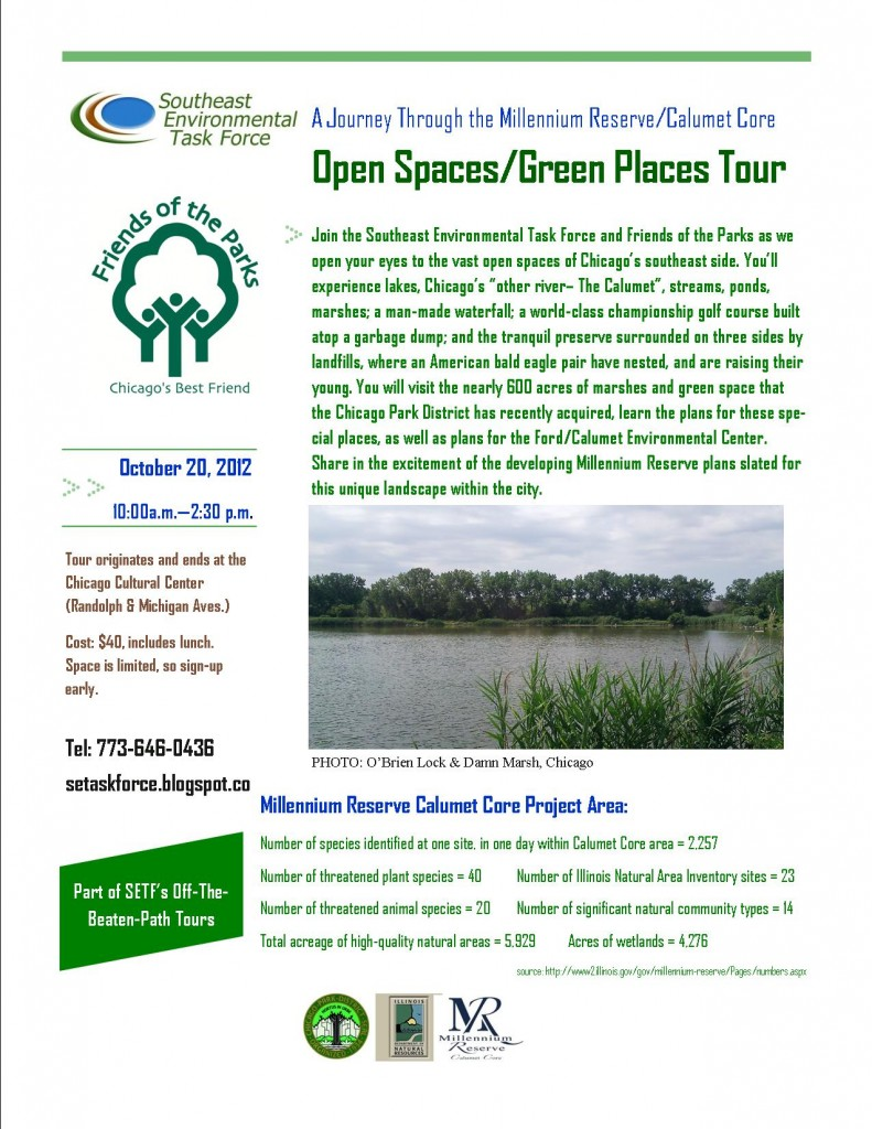 Open Spaces/Green Places Tour - October 20 2012