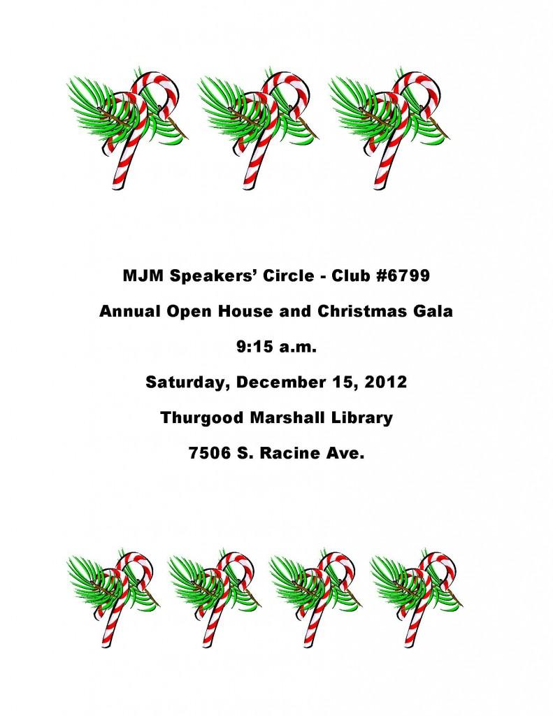 MJM SPeakers Circle Open House - December 15 2012