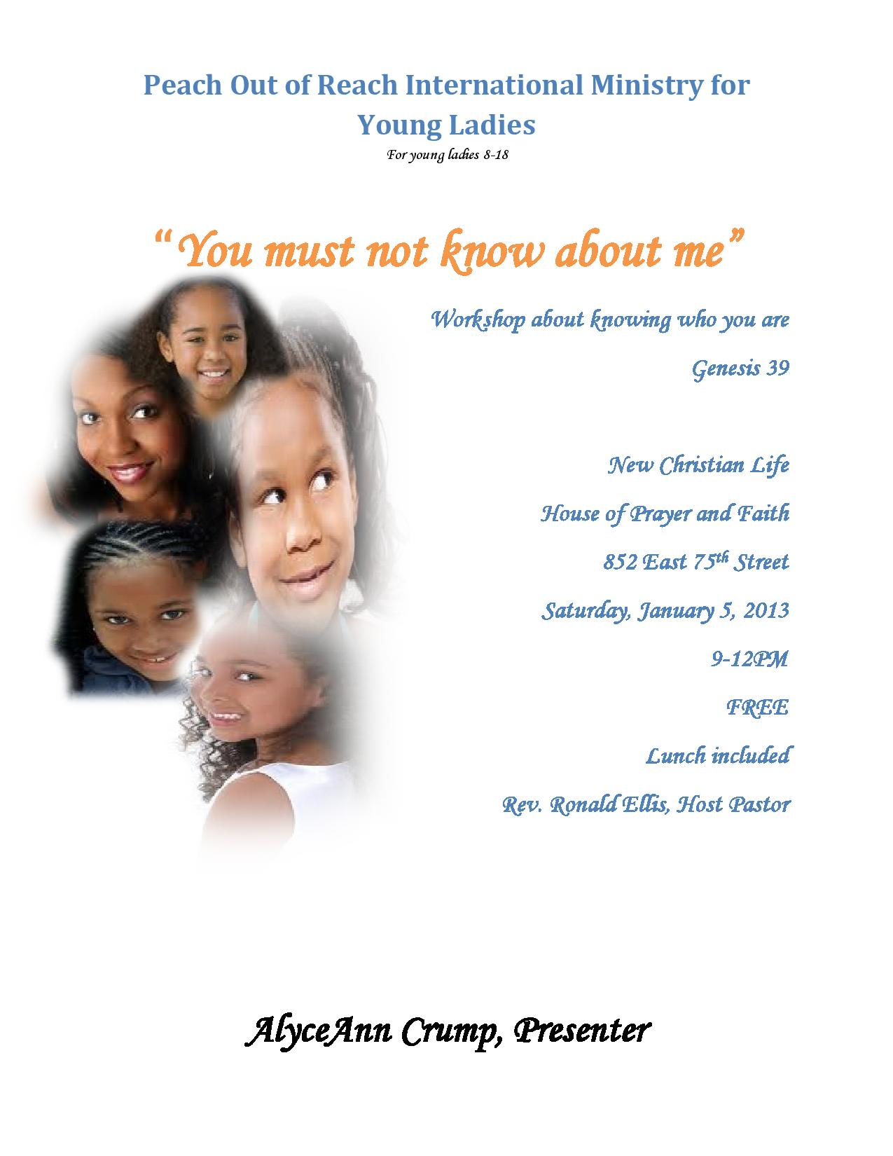 You Must Not Know About Me - January 5, 2013
