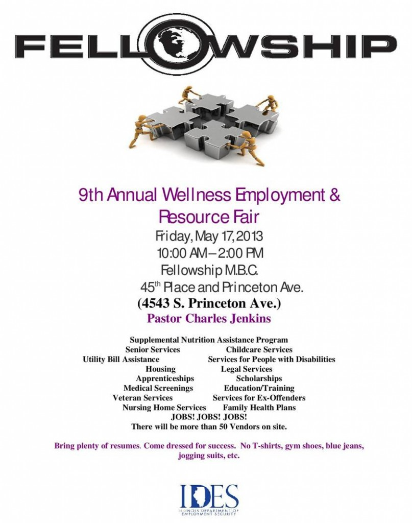 9th Annual Fellowship Wellness, Employment and Resource Fair