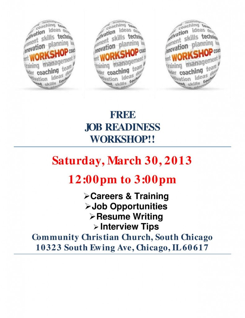 Job Readiness workshop - March 30, 2013