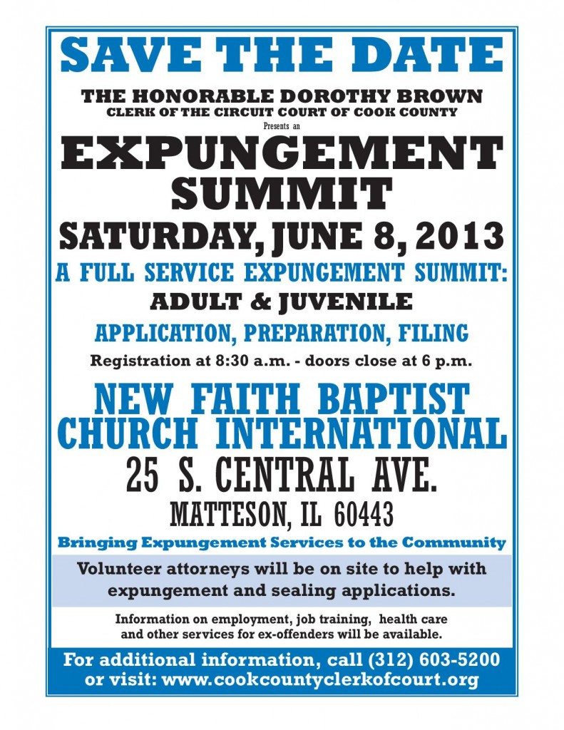 Expungement Summit - June 8 2013