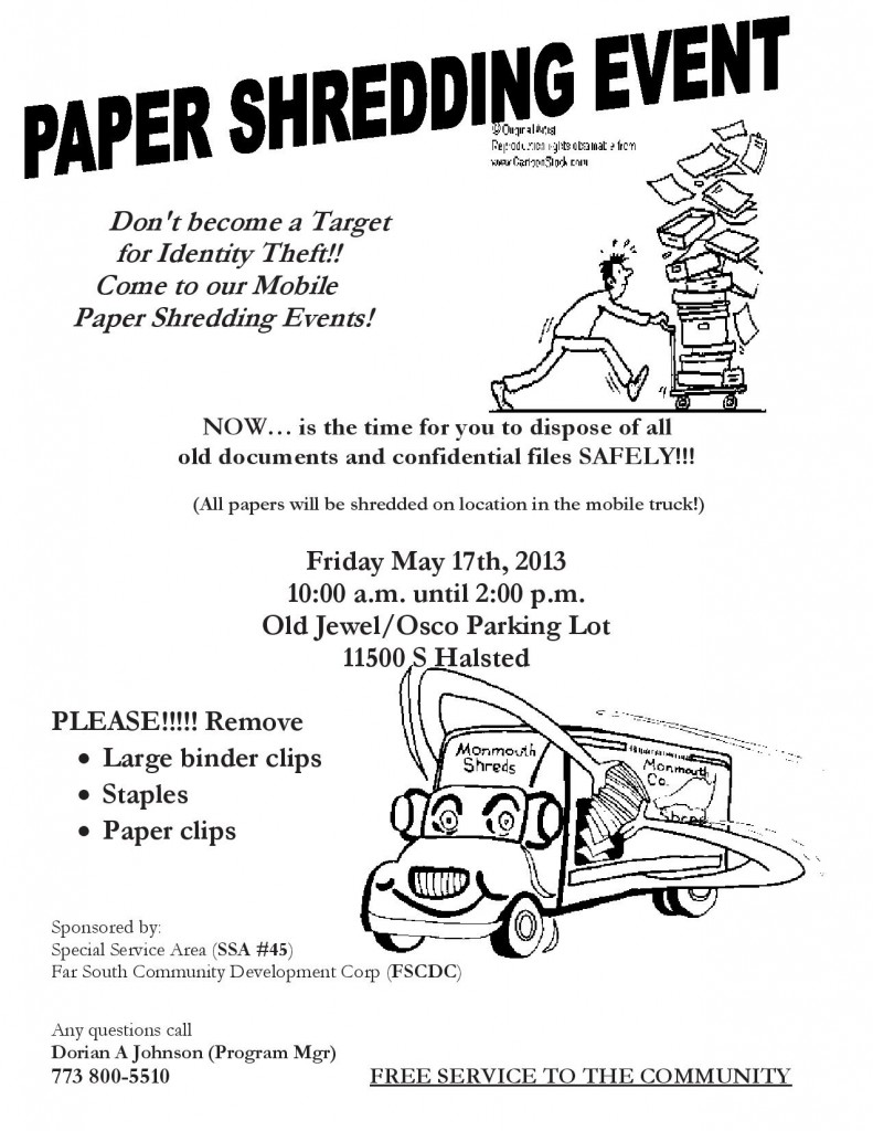 Paper Shredding Event - May 17