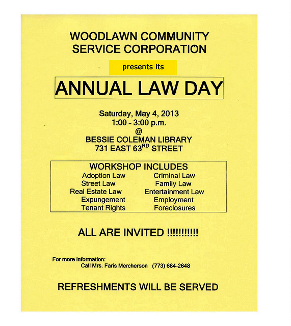Woodlawn Community Service Corporation Annual Law Day