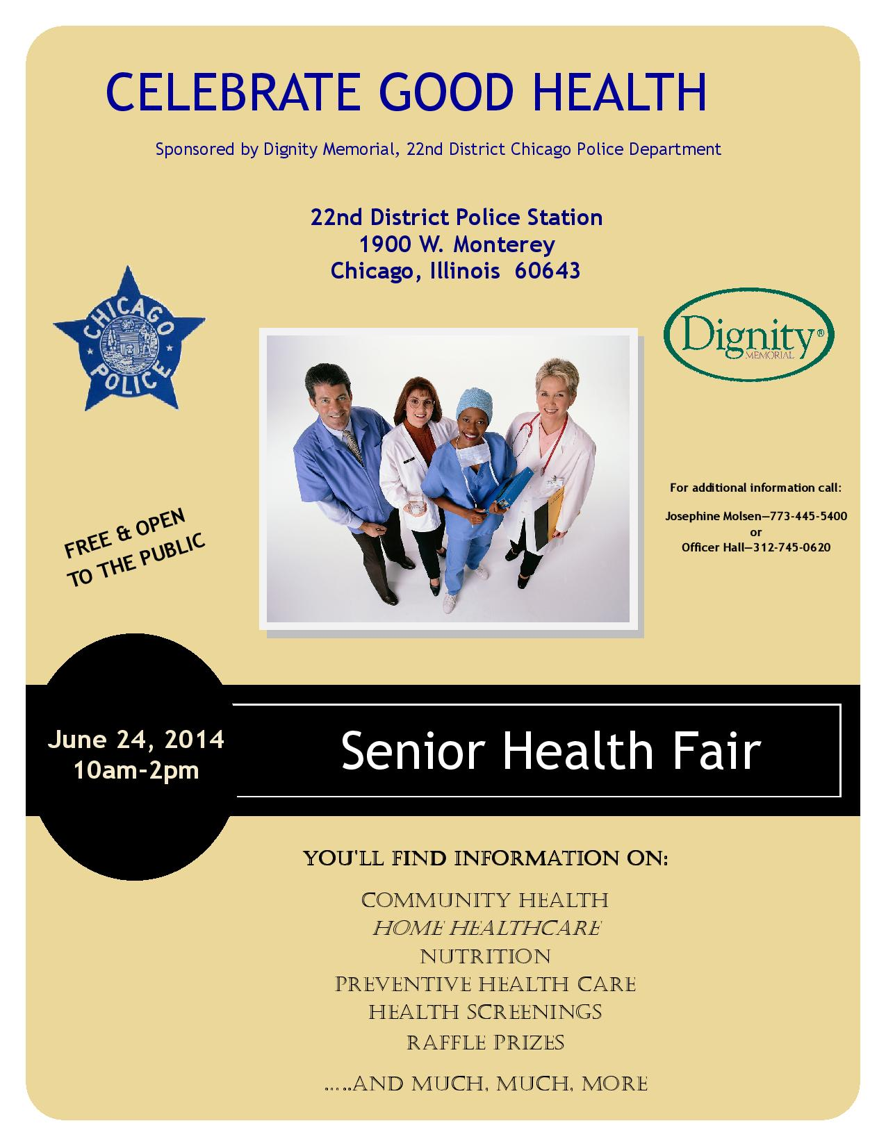 Senior Health Fair Flyer Senior Health Fair Flyer