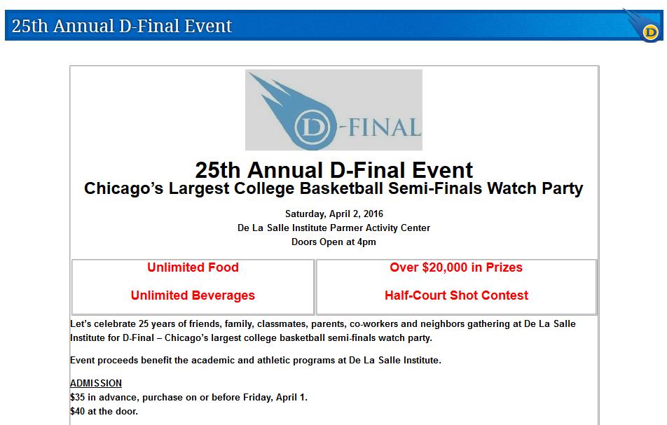 D-Final Event 2016 - DeLaSalle